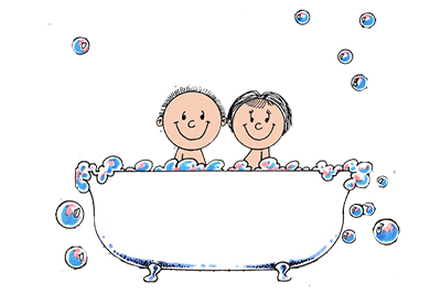 Friendly Folks Tub Time Cartoon Gifts