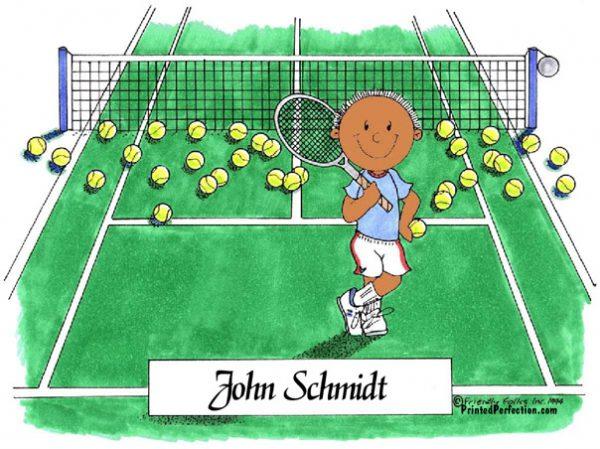 001-FF Tennis Player, Male - Dark Skin