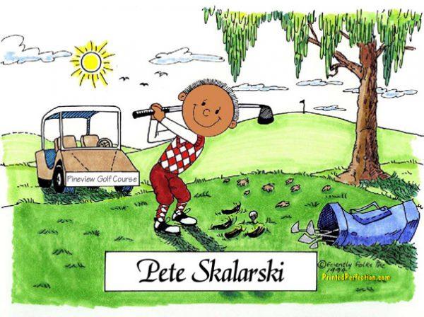 003-FF Golfer, Male - Dark Skin