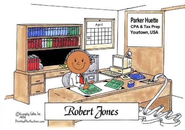 012-FF Accountant, Bookkeeper - Dark Skin