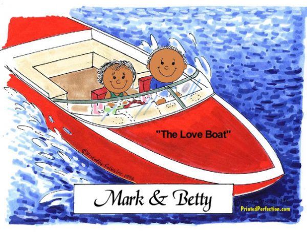 034-FF Boating Couple - Dark Skin