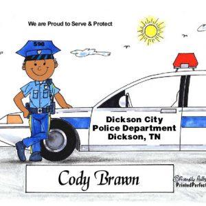 037-FF Police Officer, Male - Dark Skin