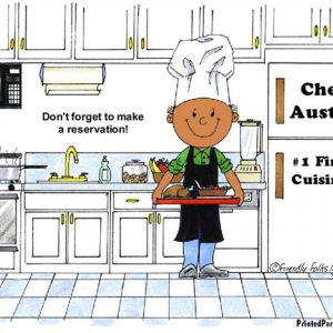 042-FF Chef, with Hat, Male - Dark Skin