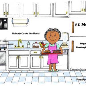 044-FF Chef, Female, no hat - Dark Skin