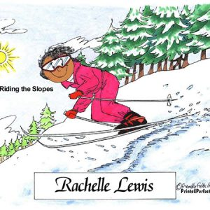 055-FF Skier, Snow, Female - Dark Skin