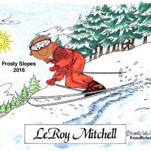 056-FF Skier, Snow, Male - Dark Skin