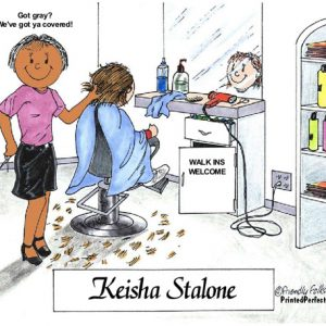 057-FF Hairdresser, Female - Dark Skin