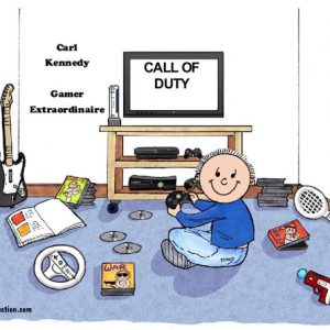 065-FF Video Gamer, Male