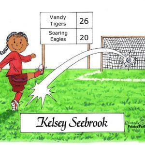 068-FF Soccer Player, Female - Dark Skin