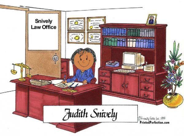 071-FF Attorney, Lawyer, Female - Dark Skin