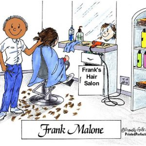 074-FF Hairdresser, Male - Dark Skin