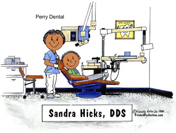 075-NTT Dentist, Female - Dark Skin