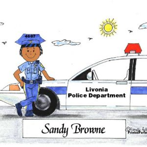 076-FF Police Officer, Female - Dark Skin