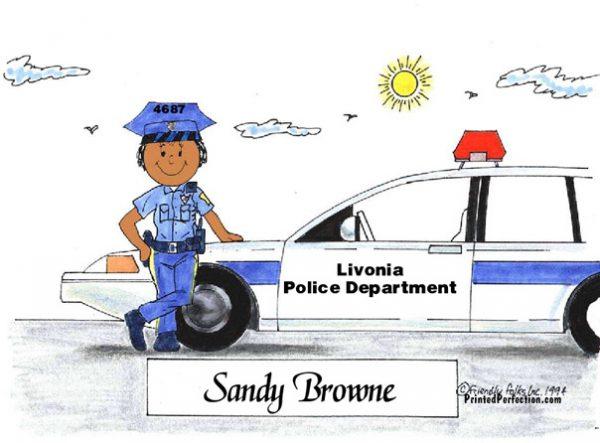 076-FF Police Officer, Female - Dark Skin