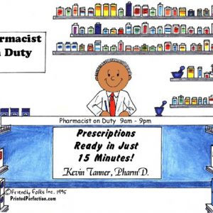 082-FF Pharmacist, Male - Dark Skin
