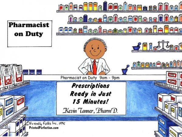 082-FF Pharmacist, Male - Dark Skin