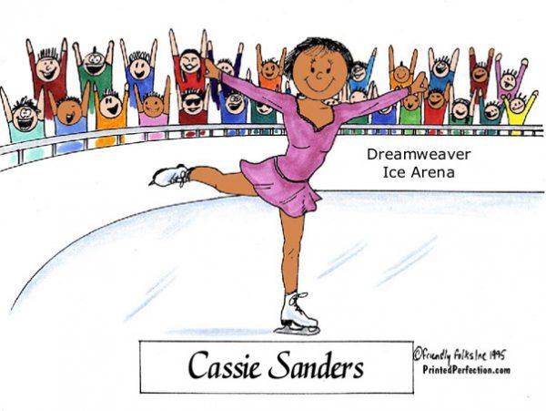 090-FF Ice Skater, Female - Dark Skin