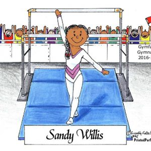 092-FF Gymnastics, Female - Dark Skin