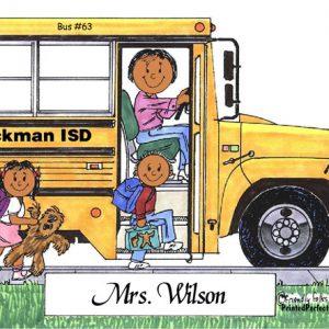 100-FF School Bus Driver, Female - Dark Skin