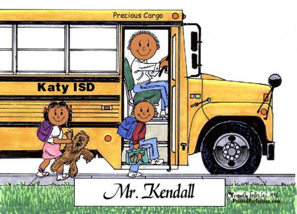106-FF School Bus Driver, Male - Dark Skin
