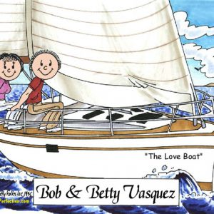 110-FF Sailing Couple