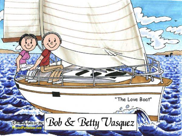 110-FF Sailing Couple