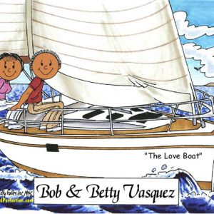 110-FF Sailing Couple - Dark Skin
