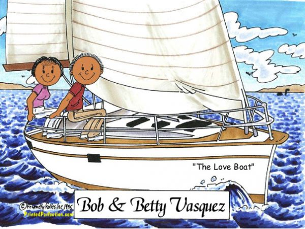 110-FF Sailing Couple - Dark Skin
