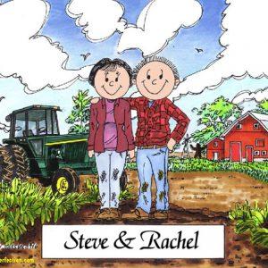 119-FF Farmer Couple - Dark Skin