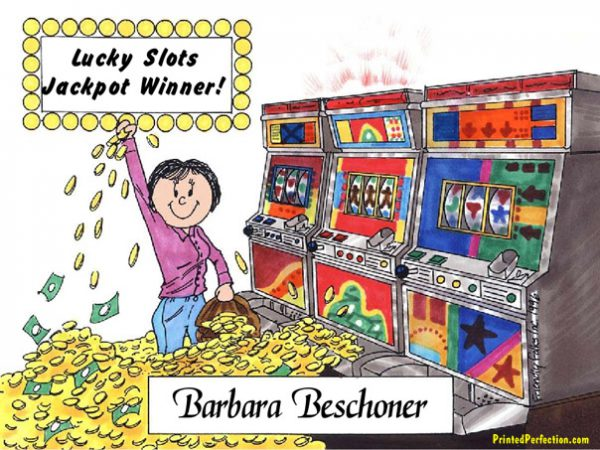 120-FF Gambler, Slot Machine, Female