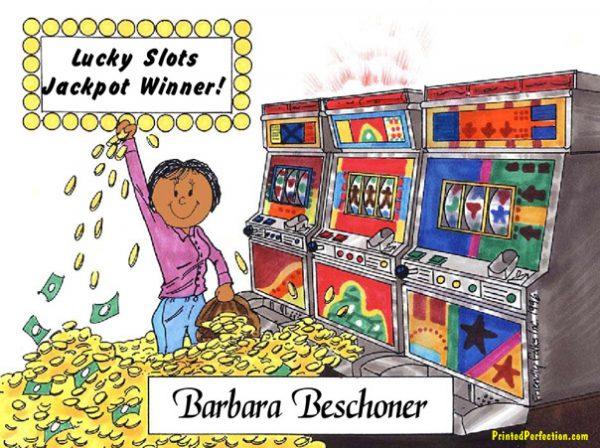 120-FF Gambler, Slot Machine, Female - Dark Skin