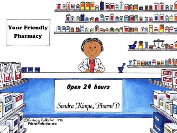 121-FF Pharmacist, Female - Dark Skin