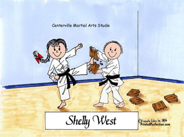134-FF Karate, Male & Female