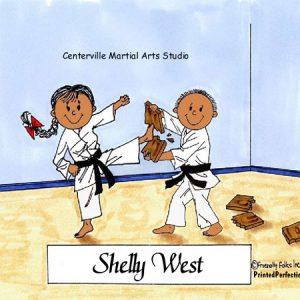 134-FF Karate, Male & Female - Dark Skin