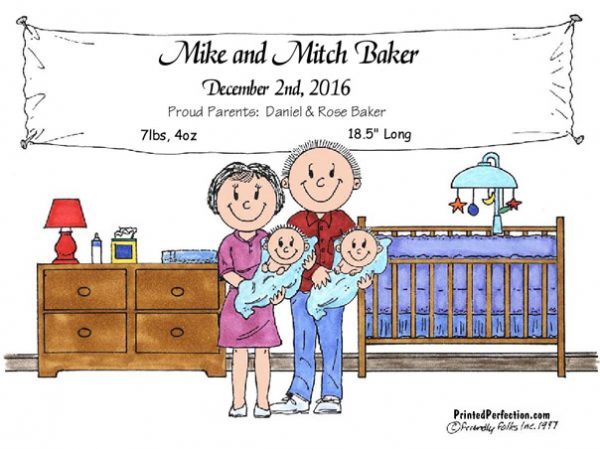 148-FF New Baby, Twins, Boys