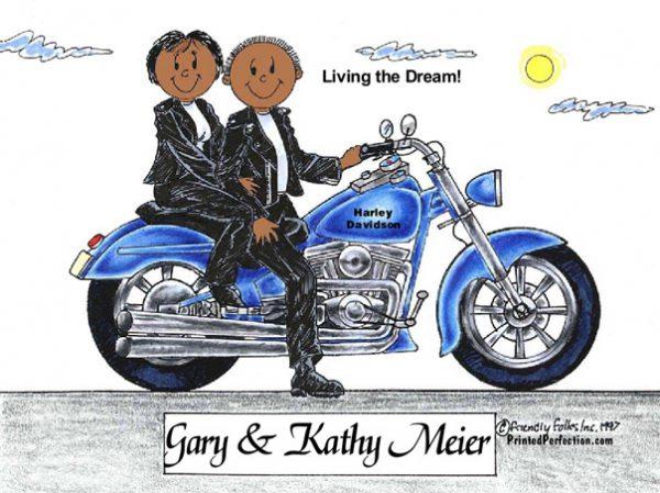 150-FF Motorcycle, Couple - Dark Skin
