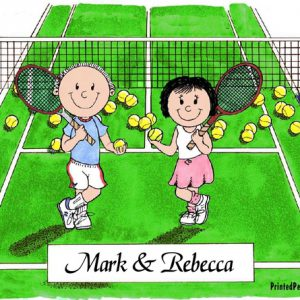 152-FF Tennis Couple