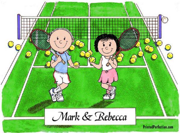 152-FF Tennis Couple