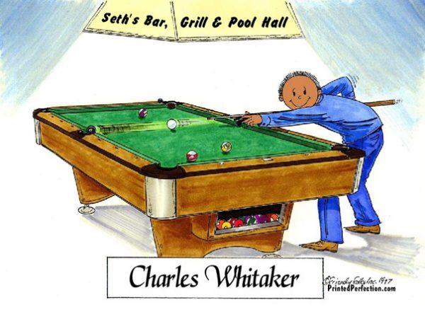 162-FF Pool Player, Billiards, Male - Dark Skin