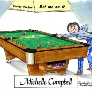 163-FF Pool Player, Billiards, Female