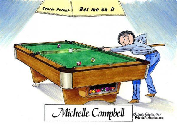 163-FF Pool Player, Billiards, Female
