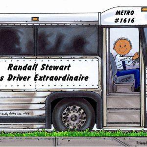 173-FF Bus Driver, Male - Dark Skin