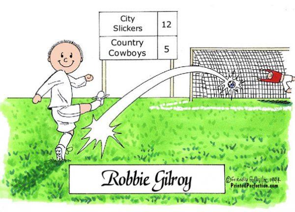 176-FF Soccer Player, Male, White Uniform