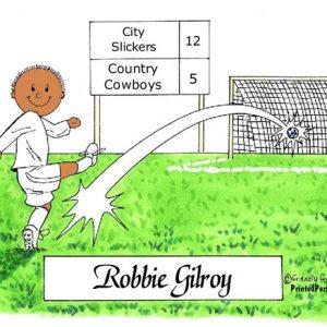 176-FF Soccer Player, Male, White Uniform - Dark Skin