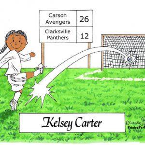 177-FF Soccer Player, Female - Dark Skin