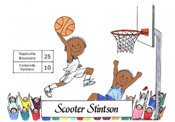 181-FF Basketball Player, Male - Dark Skin