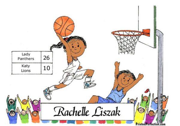 182-FF Basketball Player, Female - Dark Skin