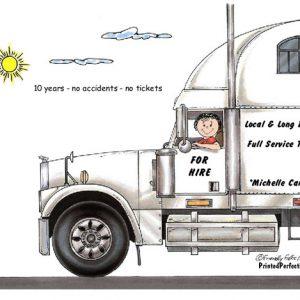 190-FF Truck Driver, 18 Wheeler, Female
