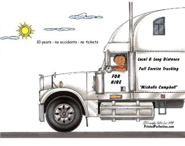 190-FF Truck Driver, 18 Wheeler, Female - Dark Skin