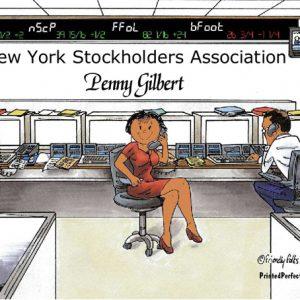 191-FF Stock Broker, Female - Dark Skin